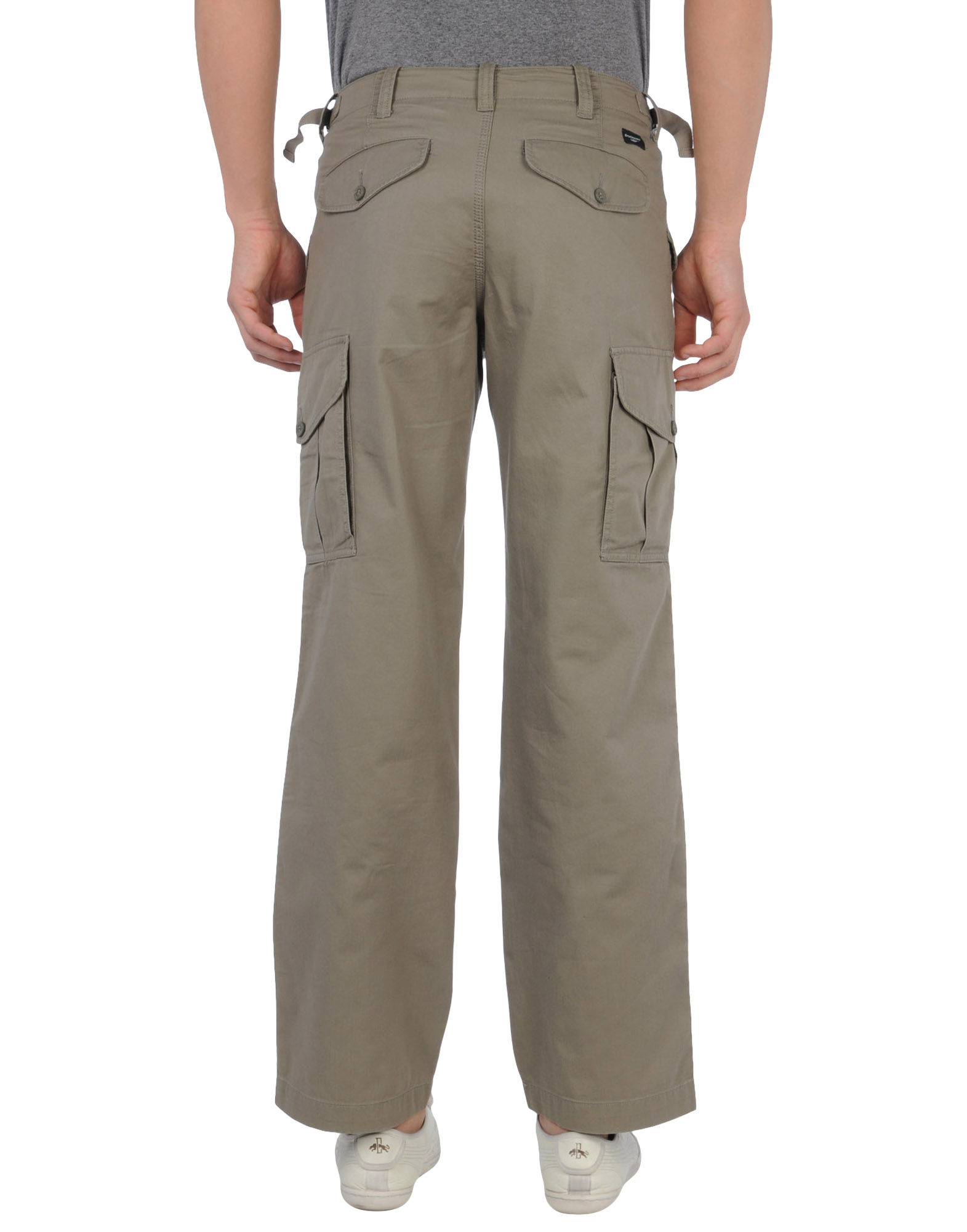 Dockers Cotton Casual Pants In Military Green Green For
