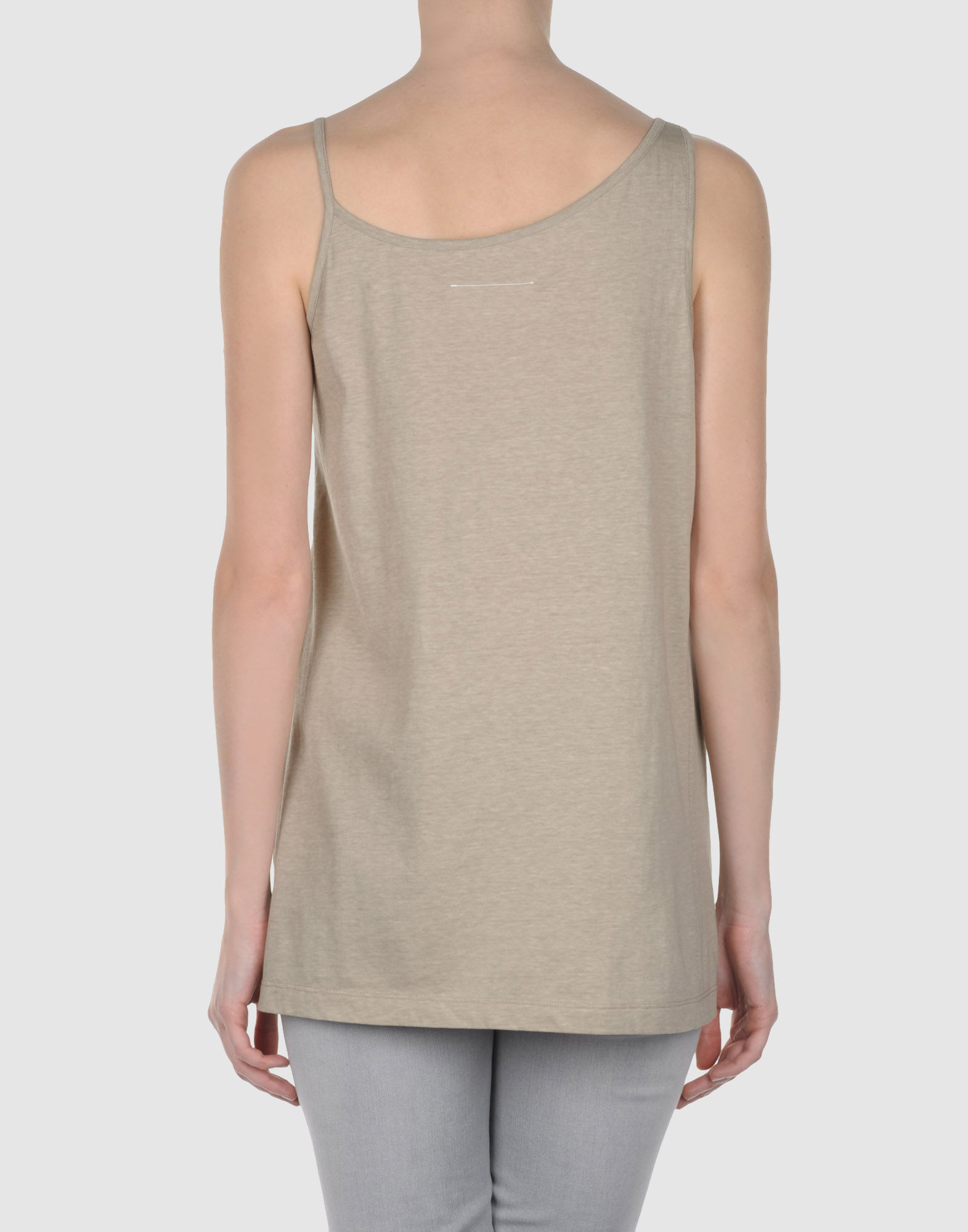 Lyst mm6 by maison martin margiela top in natural for Mm6 maison martin margiela
