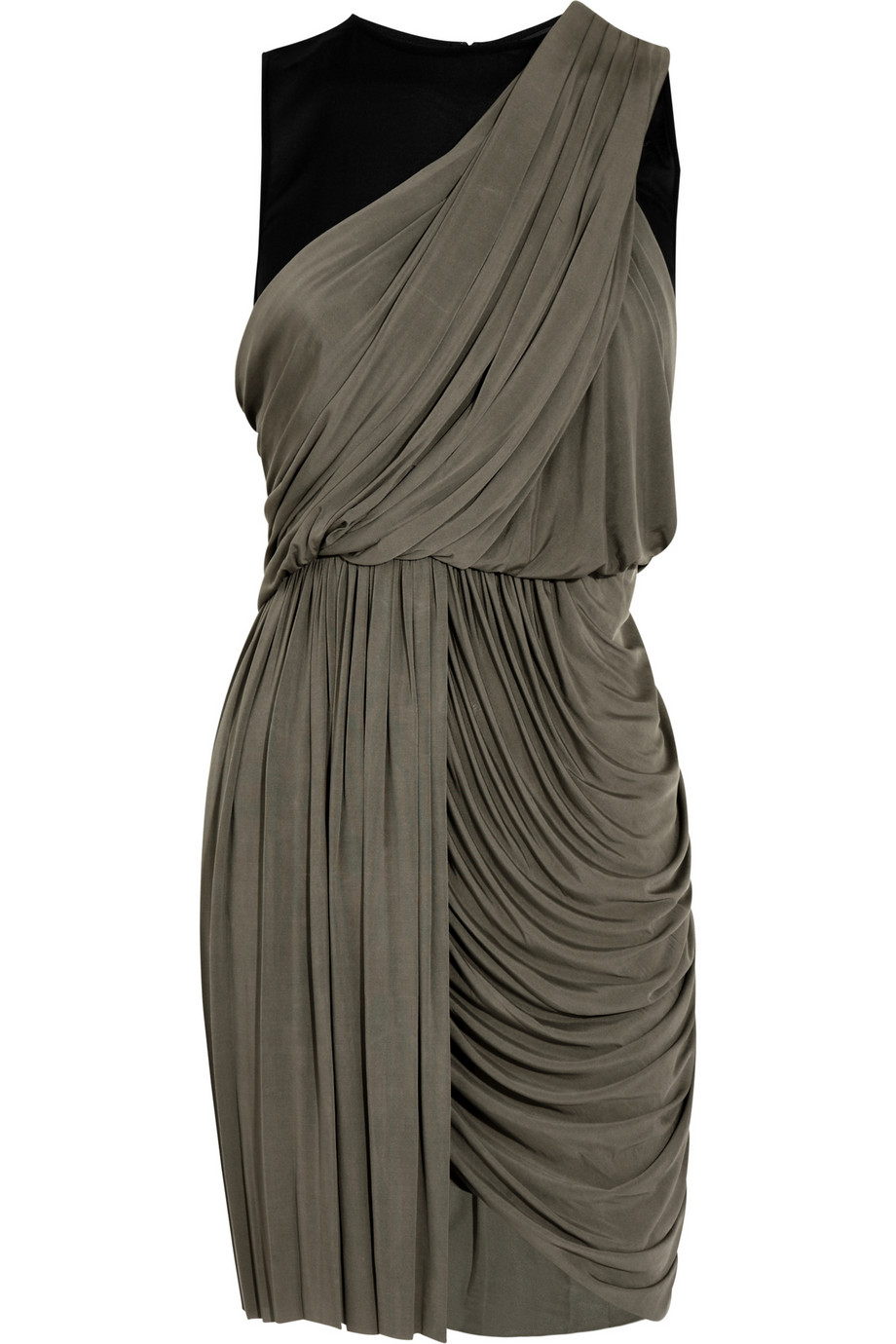 Alexander Wang Draped Jersey Dress In Anthracite Gray Lyst
