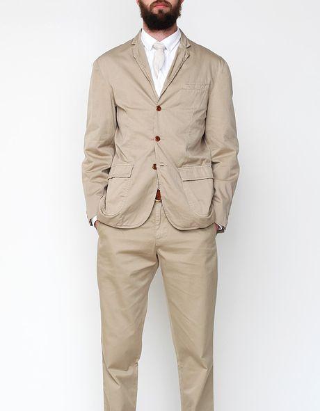 Apolis Standard Issue Civilian Blazer in Khaki in Khaki for Men