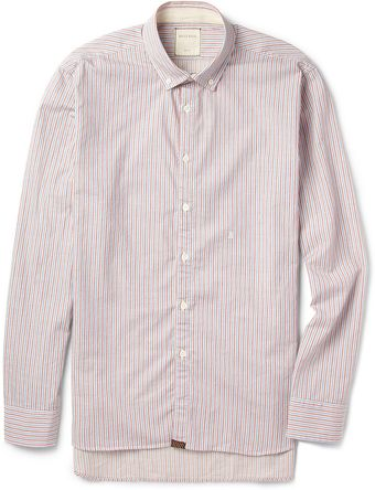 Billy Reid Striped Cotton Oxford Shirt - Lyst