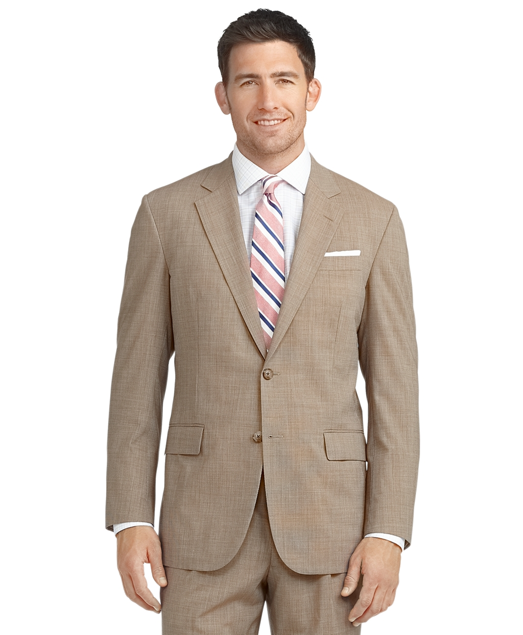 Lyst brooks brothers brookscool madison fit tic suit in for Brooks brothers custom shirt