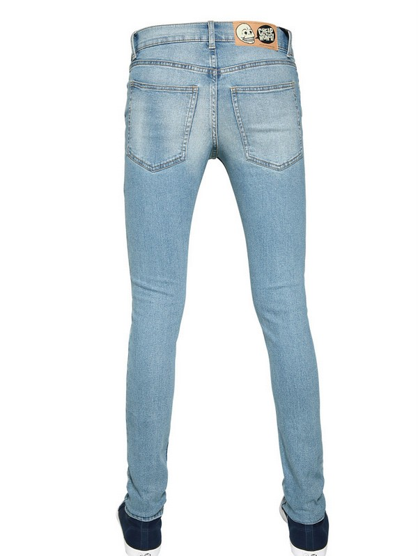 Cheap Monday Tight Fit Used Denim Jeans in Light Blue (Blue) for Men