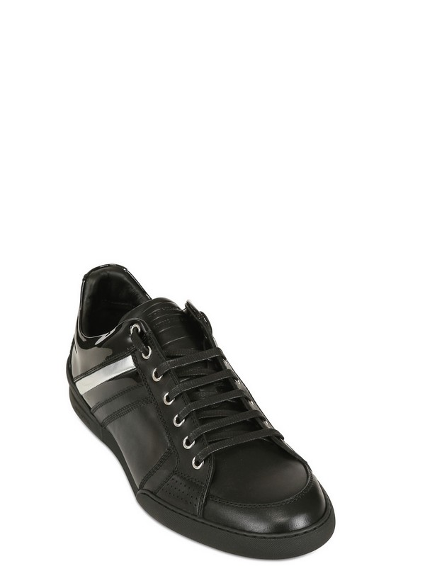 Lyst Dior Homme Contrasting Stripe Leather Sneakers In