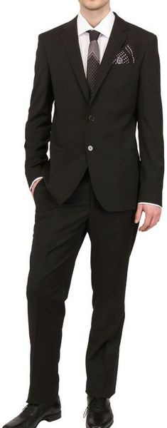 Dolce & Gabbana Stretch Wool Blend Suit in Black for Men