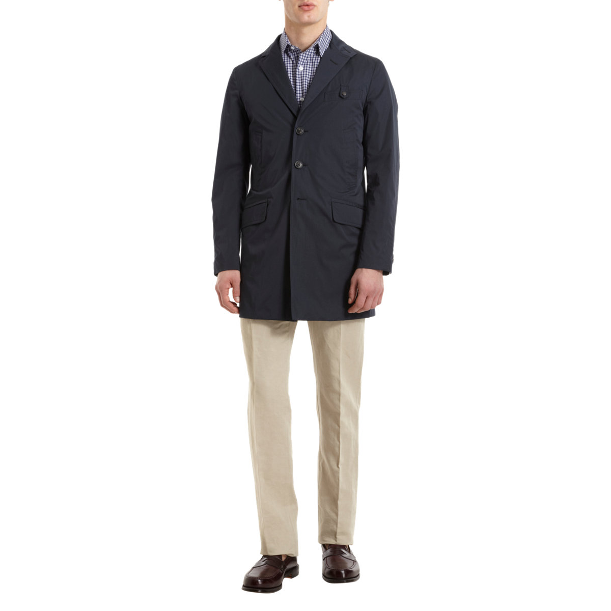 95a119257d Fay Button Front Driving Coat in Blue for Men - Lyst
