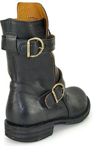 fiorentini baker 713b1 eternity buckle boot in black. Black Bedroom Furniture Sets. Home Design Ideas
