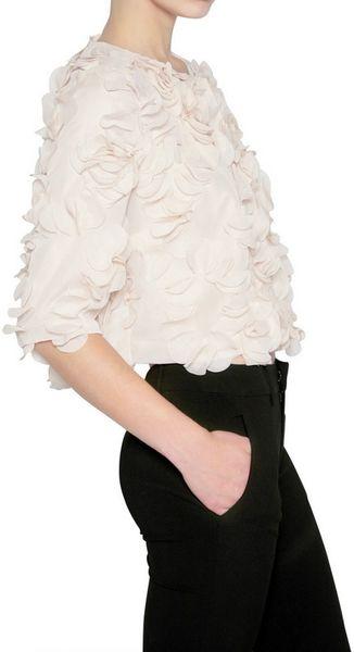 gaowei xinzhan chiffon petals bolero jacket in beige nude. Black Bedroom Furniture Sets. Home Design Ideas