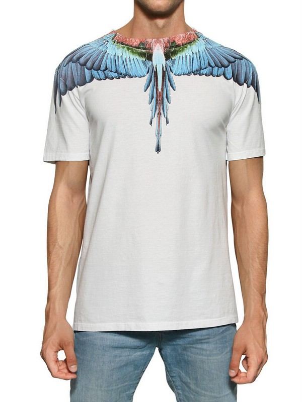 Lyst Marcelo Burlon Bird Feathers Cotton Jersey Tshirt