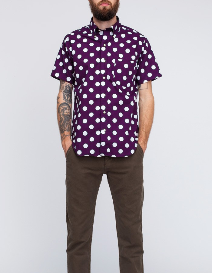 Mark mcnairy new amsterdam Short Sleeve Big Dot Button Down Shirt ...