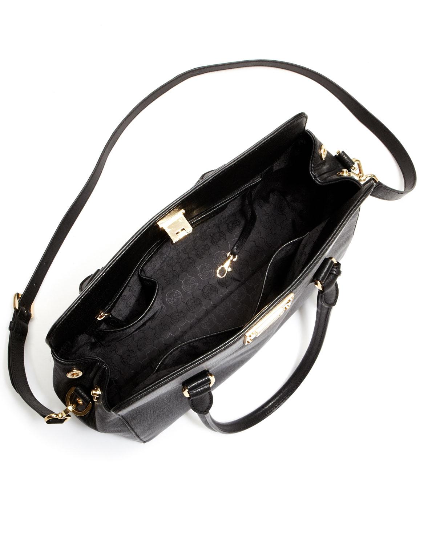 c9cde1b878ee Lyst - Michael Kors Large Astrid Leather Satchel in Black