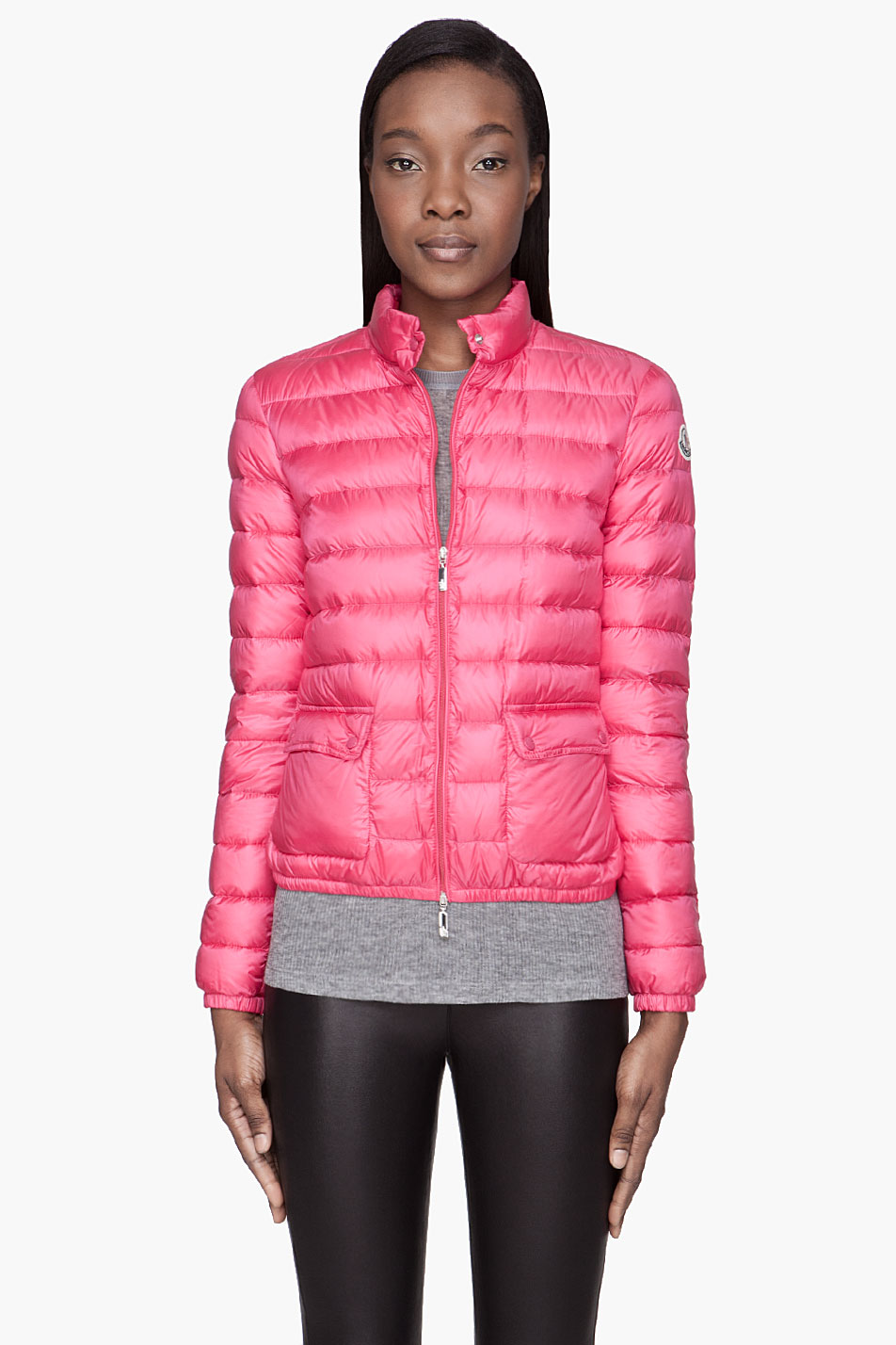 239ccd65d Moncler Fuchsia Pink Quilted Down Lans Jacket