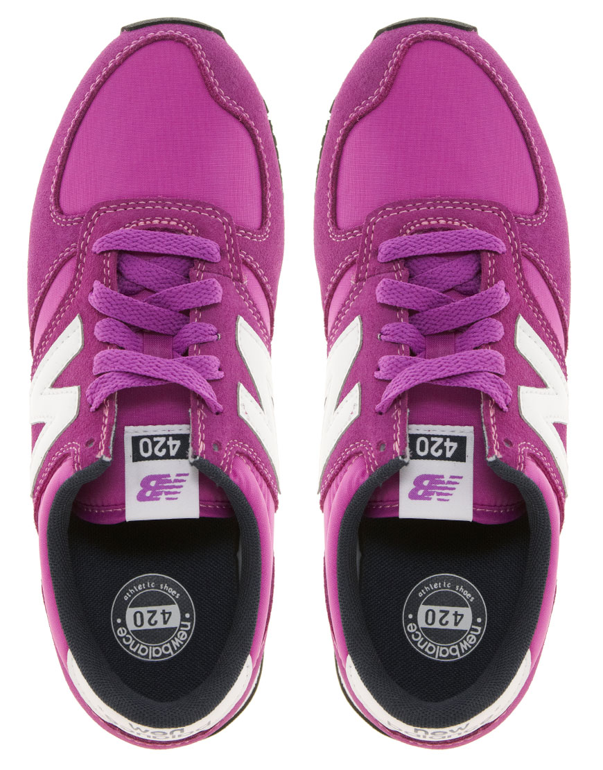 New Balance 420 Purple Suede Trainers
