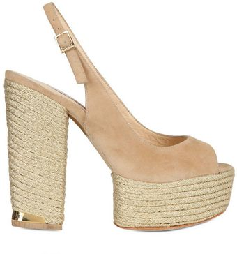 Paloma Barceló 130mm Suede and Rope Sandals - Lyst