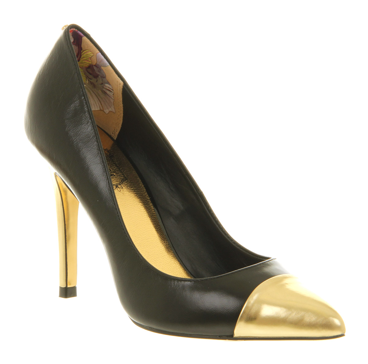 Lyst Ted Baker Saysa High Heel Court Shoe Black Gold