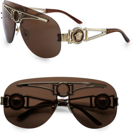 Versace Metal Sunglasses Versace Medusa Metal Shield