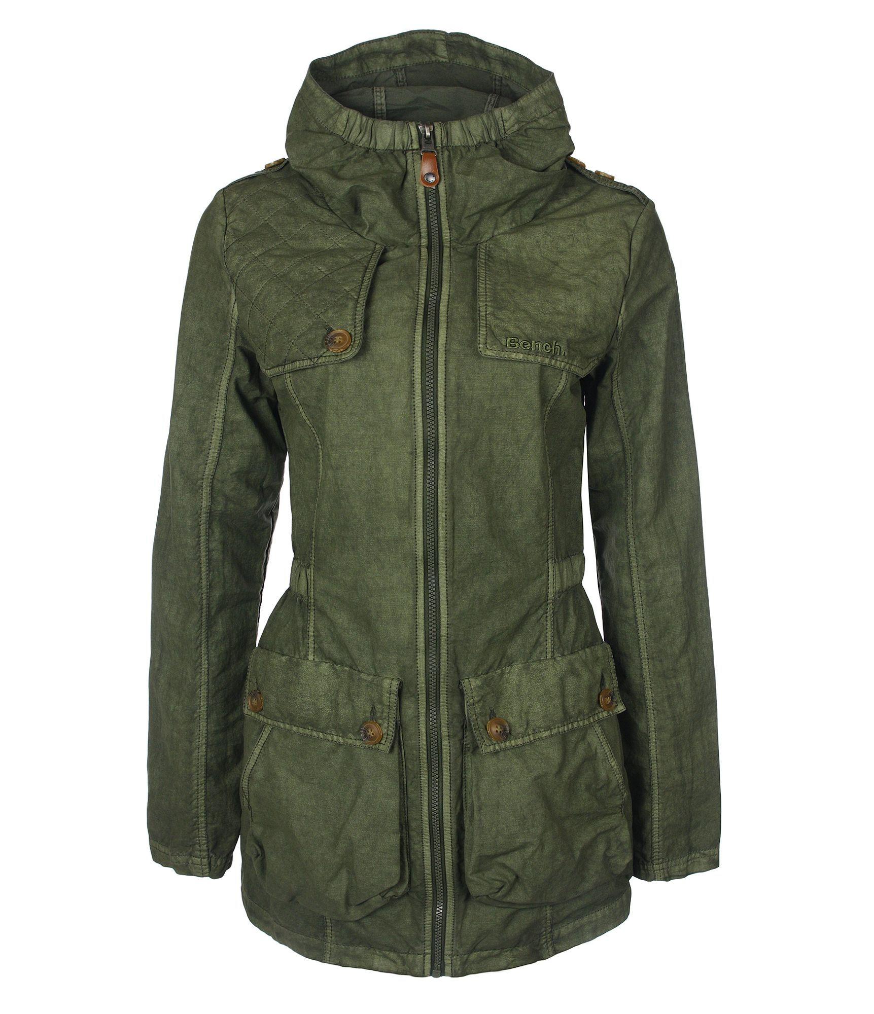 Bench edendale jacket in green lyst Bench jacket