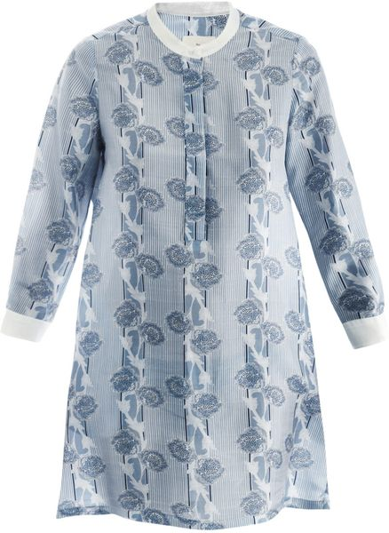 Boy By Band Of Outsiders Japanese Flowerprint Dress in Blue (sky)