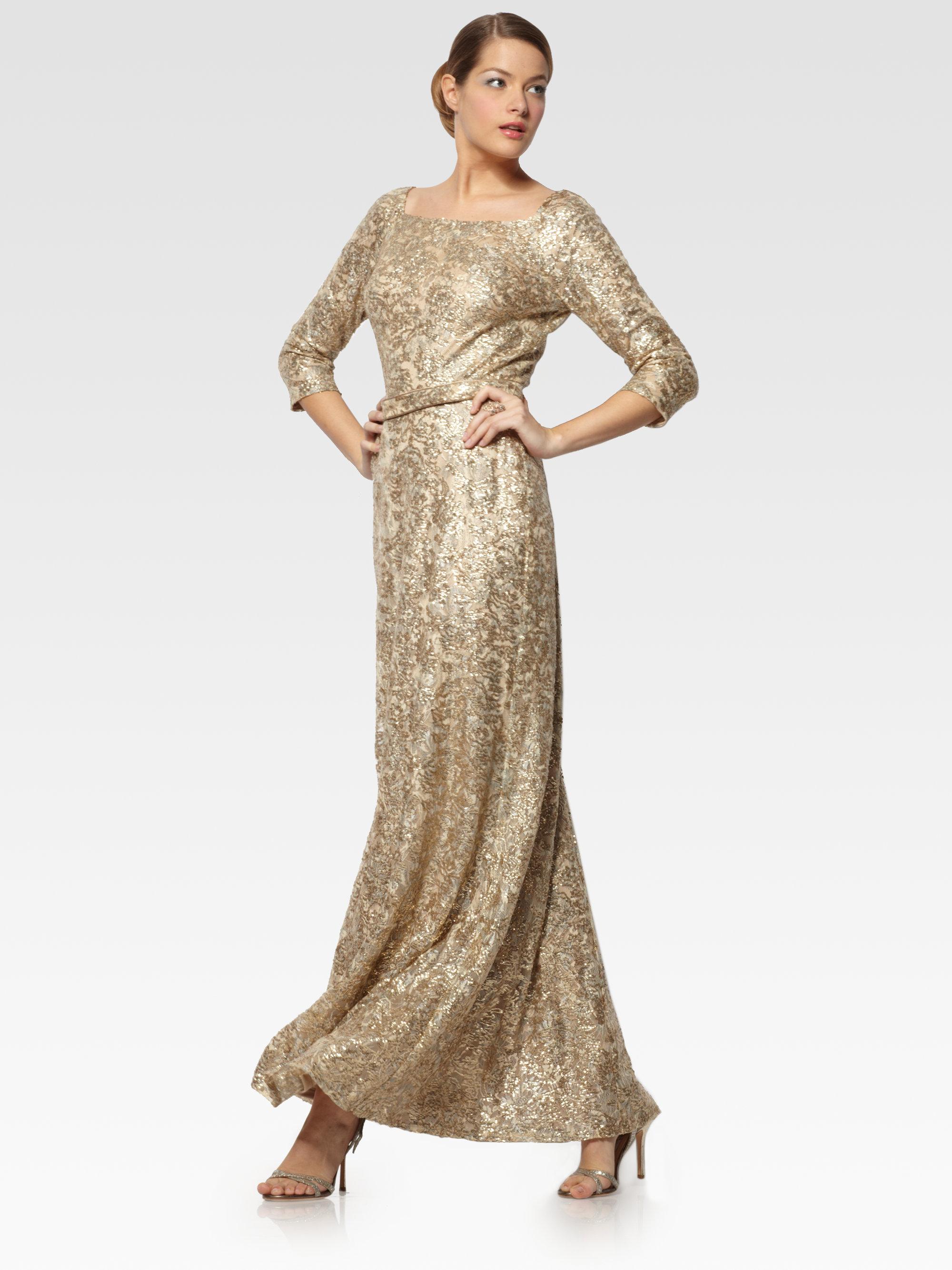 Evening Light David Meister Gold Gown