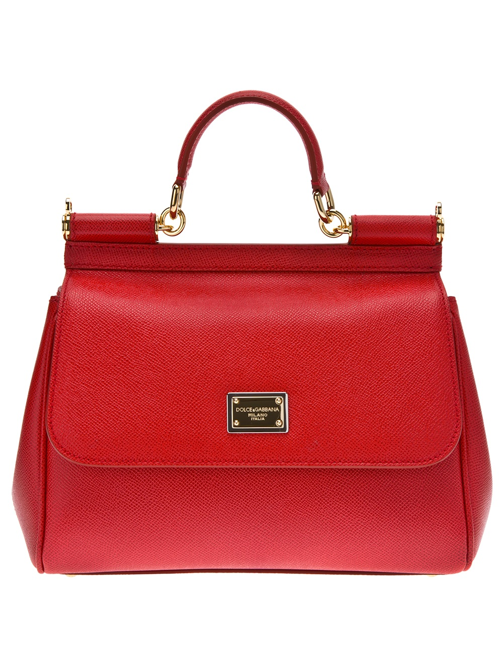 Dolce Amp Gabbana Small Sicily Bag In Red Lyst