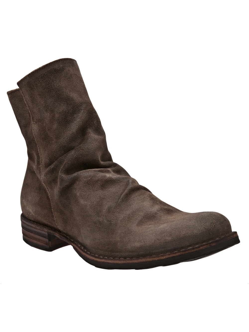 fiorentini baker slouchy ankle boots in brown for