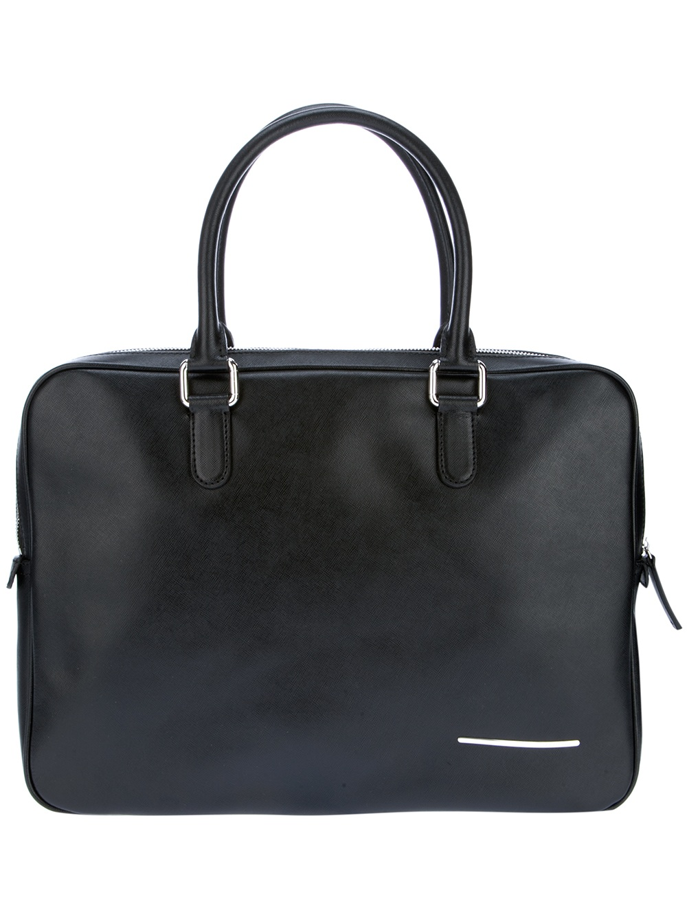 Giorgio Armani Branded Laptop Bag In Black For Men Lyst