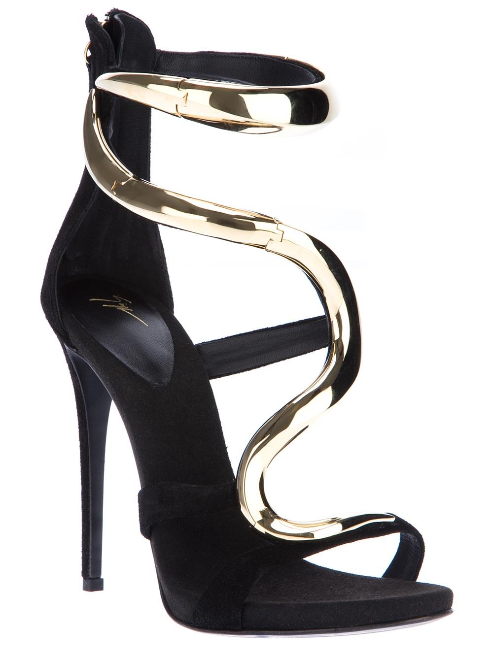 Giuseppe Zanotti Hinged Stiletto Sandal In Black Lyst