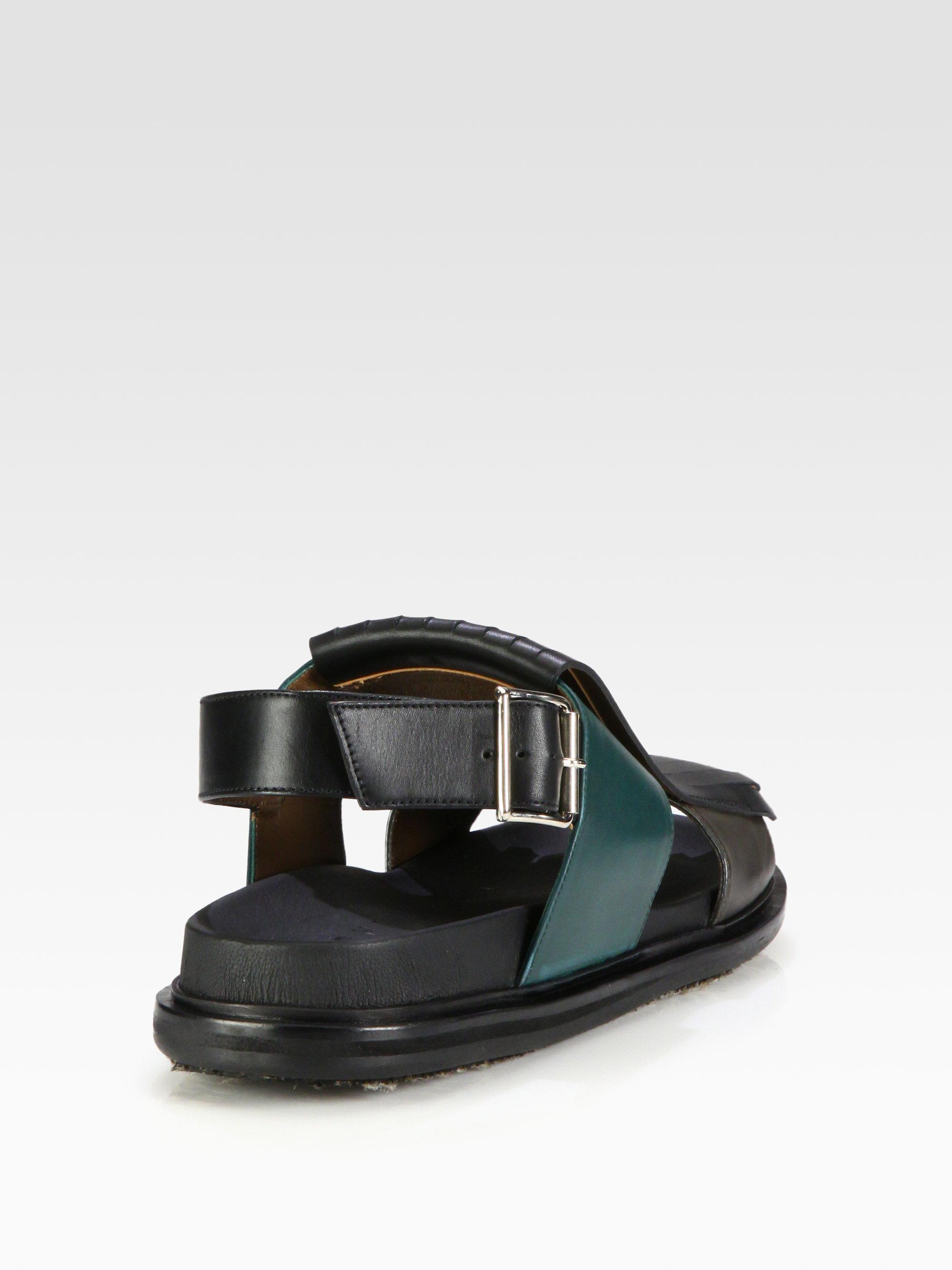 Marni Fussbett Sandal in Grey (Black