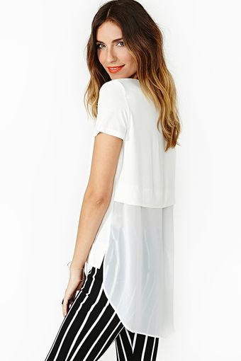 Nasty Gal Float On Tee White - Lyst