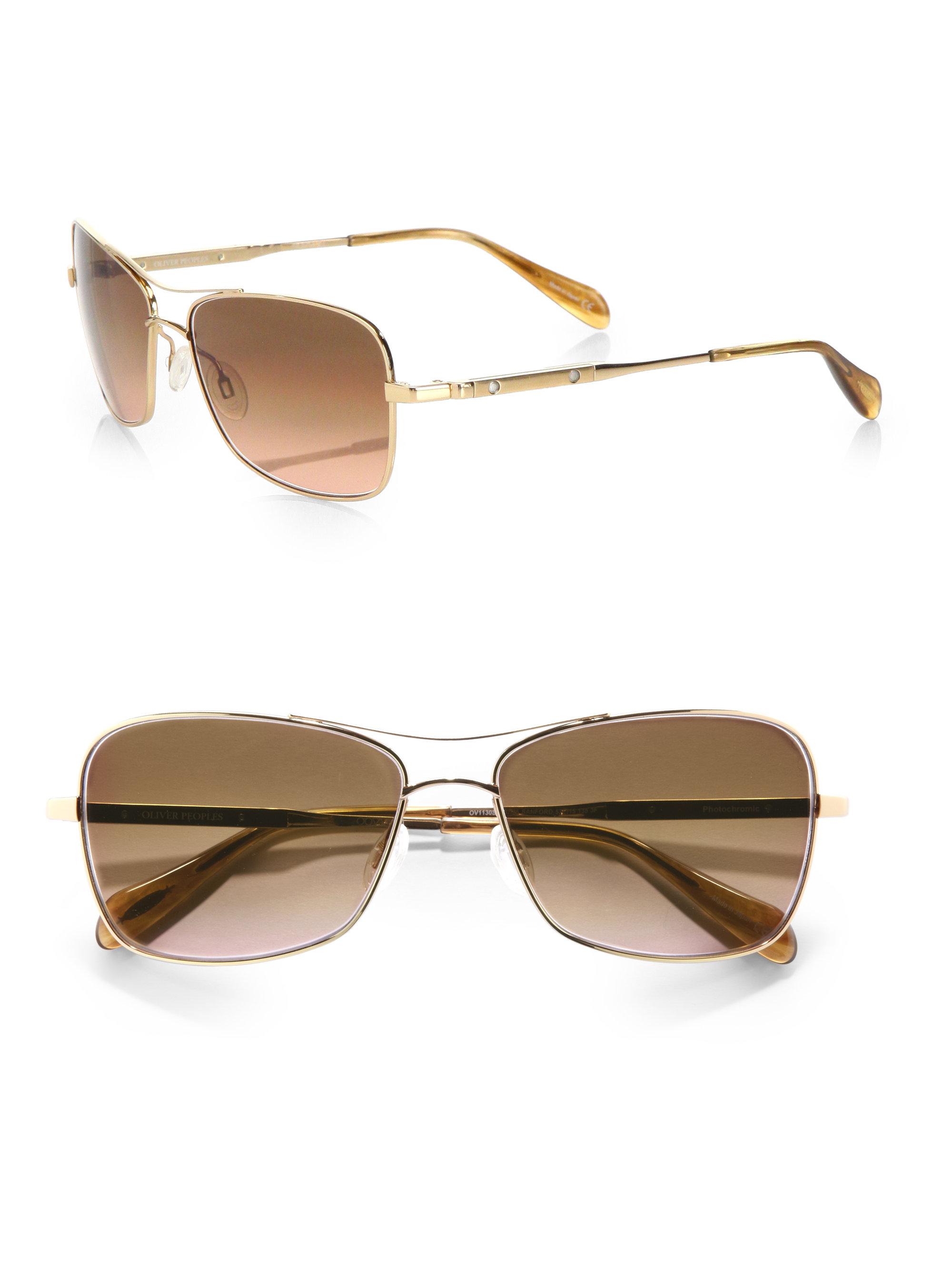 rectangular sunglasses - Metallic Oliver Peoples wsff1Ck4