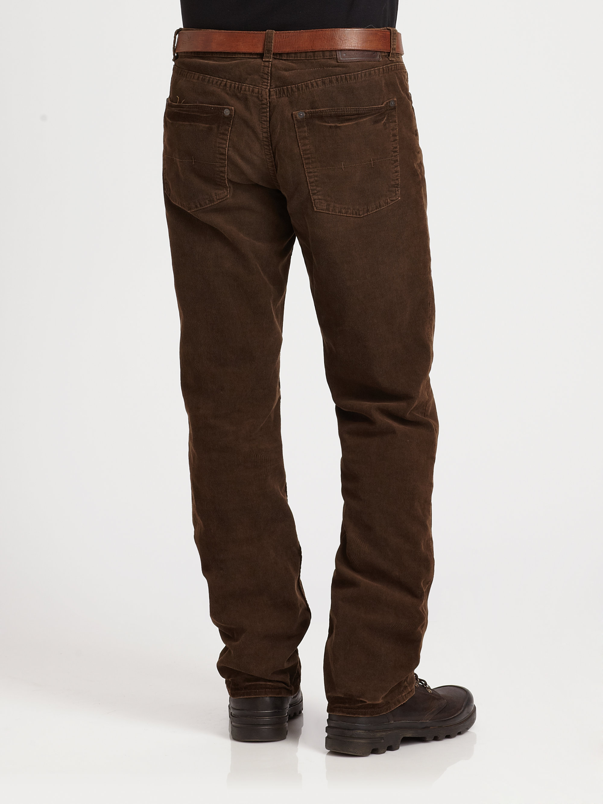 Polo ralph lauren Straightfit Corduroy Pant in Brown for Men | Lyst