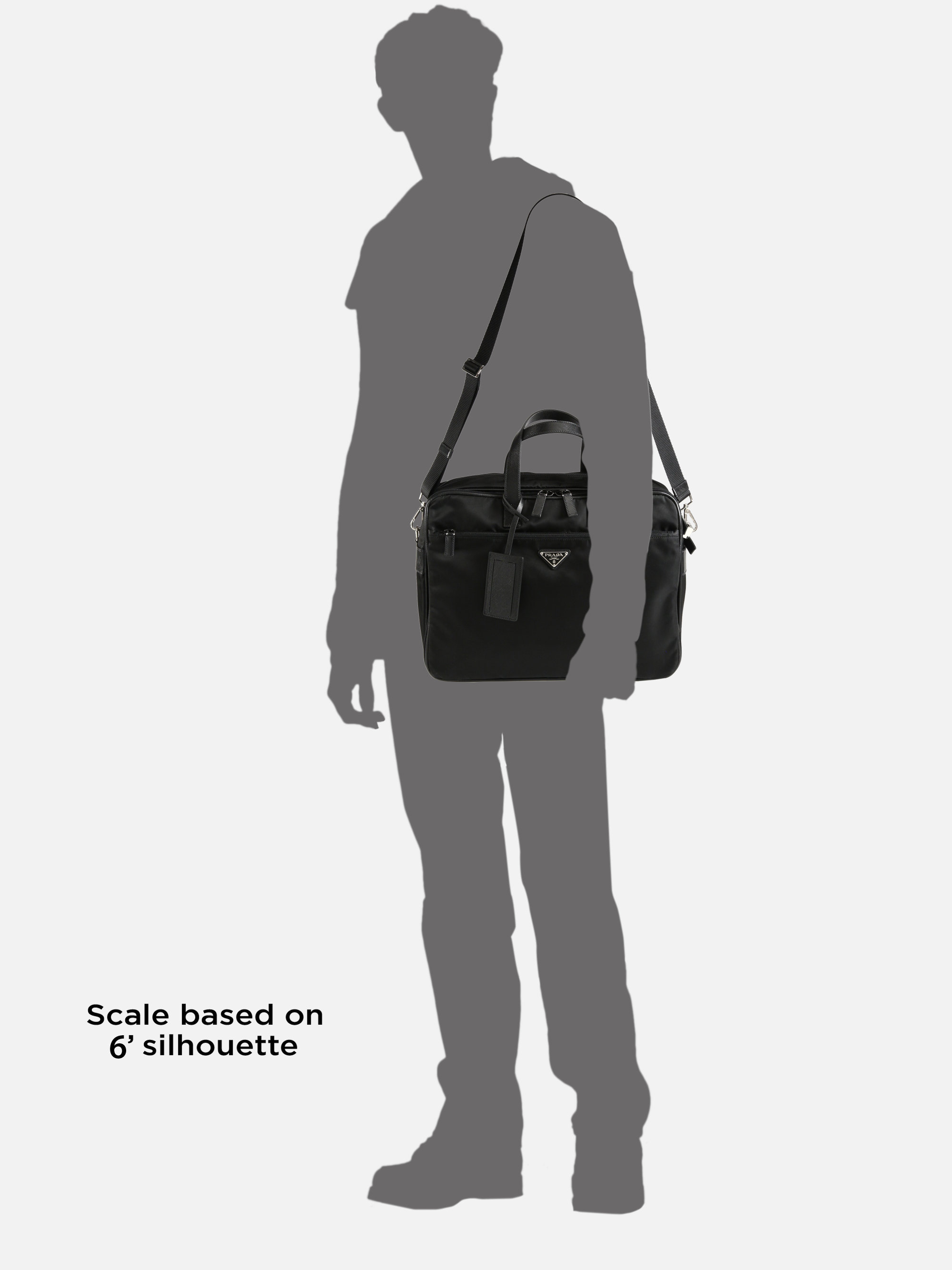 dab702d5649bc4 Prada Nylon Briefcase in Black for Men - Lyst