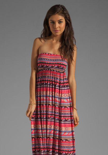 Rachel Pally Loveboat Strapless Dress in Multicolor (granita folk stripe)
