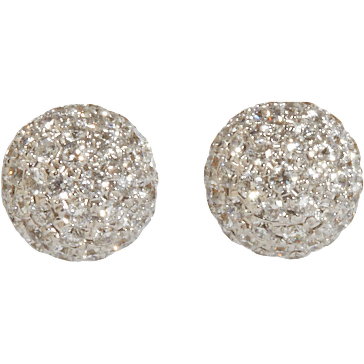 Diamond Pave Stud Earrings Topearrings