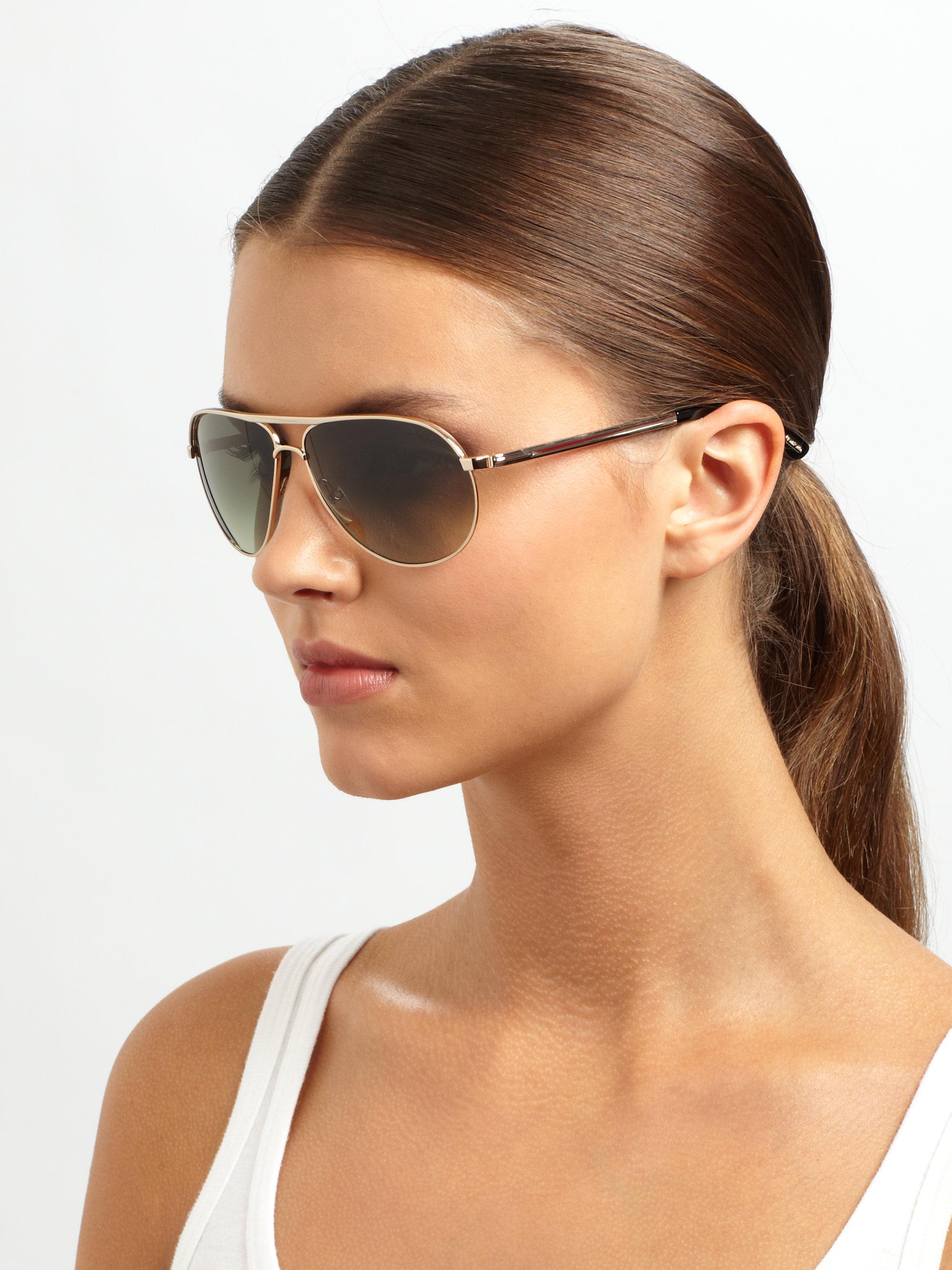 Tom Ford Marko 58mm Aviator Sunglasses In Metallic Lyst