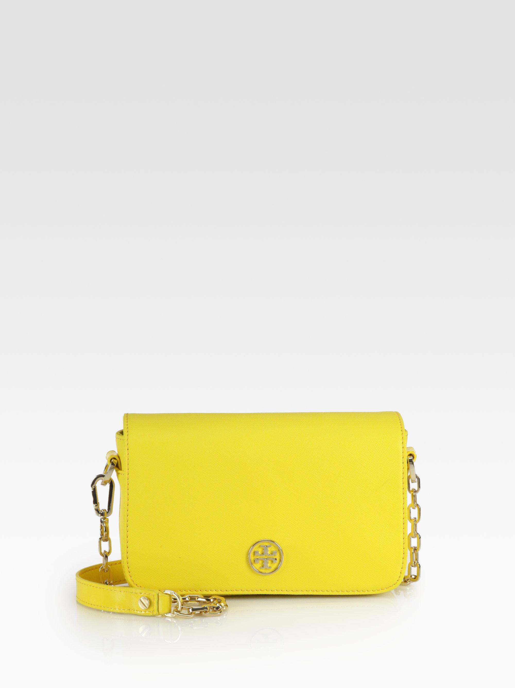 522d1c3c55 Tory Burch Robinson Mini Shoulder Bag in Yellow - Lyst