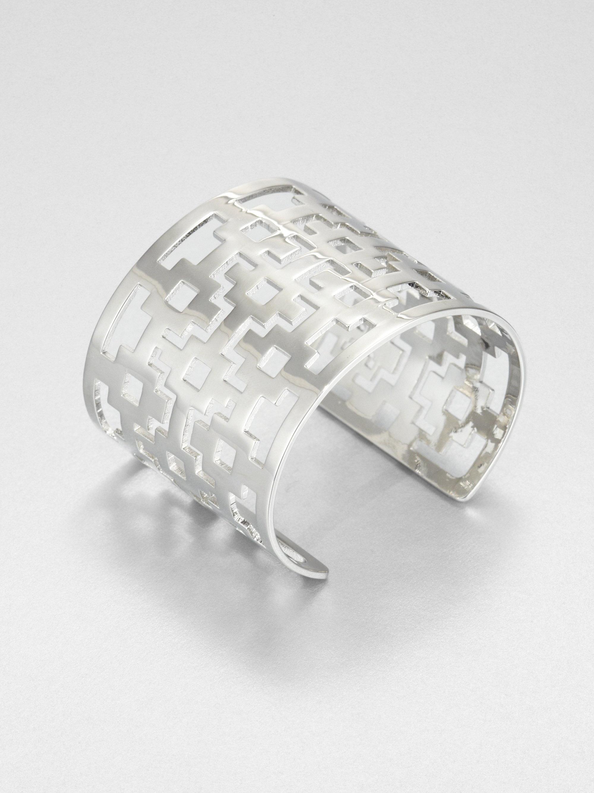 Tory Burch Openwork Bracelet In Silver Tory Silver Lyst