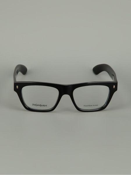 Saint Laurent Buddy Holly Glasses In Black For Men Lyst