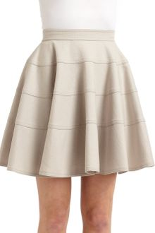 Z Spoke by Zac Posen Seamed Pleated A-Line Skirt - Lyst