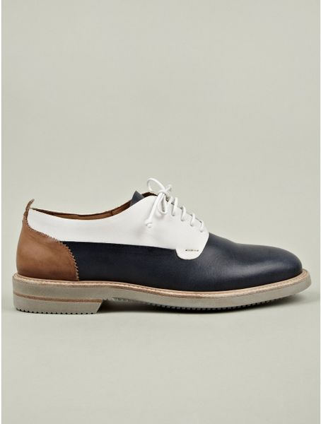 mcqueen mens minnesota leather saddle shoe in