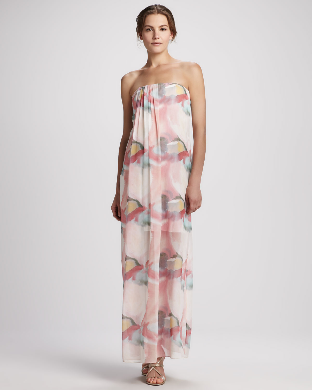 Lyst Alice Olivia Kiernan Floral Strapless Maxi Dress