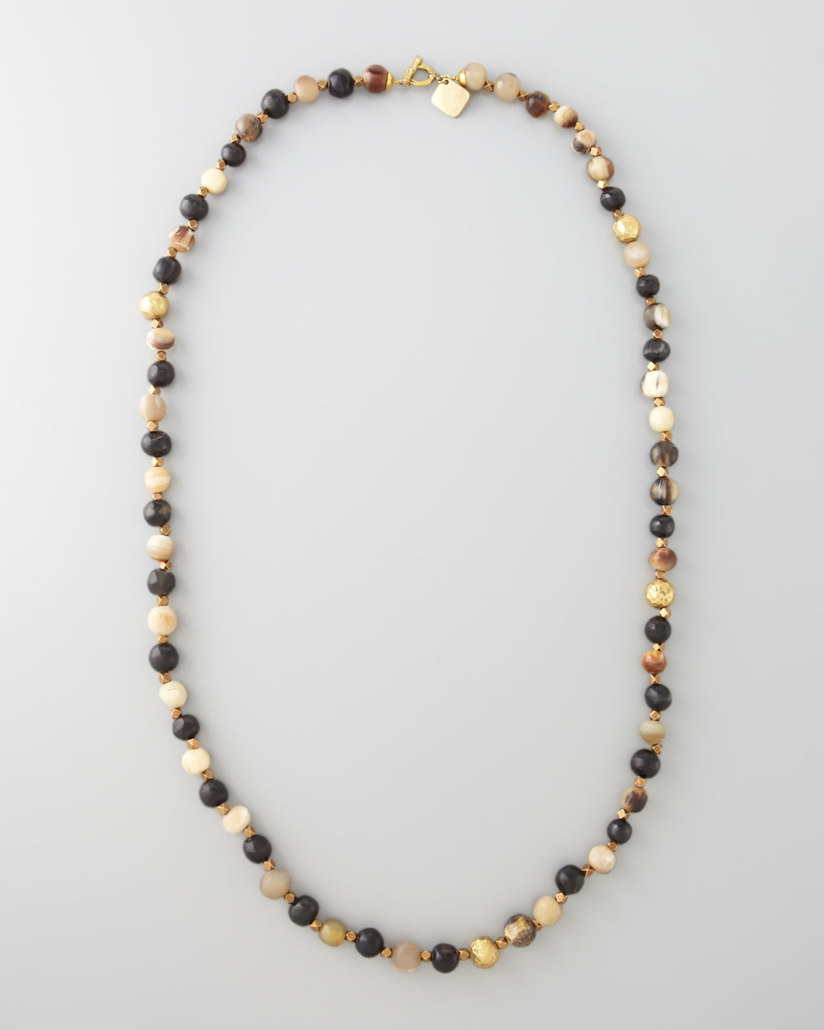 ashley pittman haba horn bead necklace in black lyst. Black Bedroom Furniture Sets. Home Design Ideas