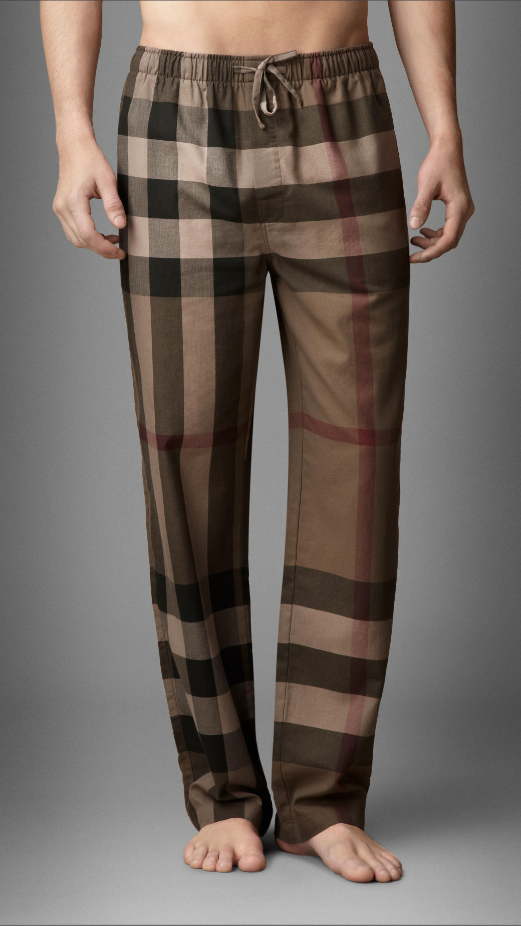 Burberry Brit Checked Pyjama in Brown for Men - Lyst
