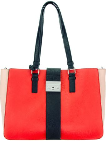 Calvin Klein Colour Block Shoulder Bag - Lyst