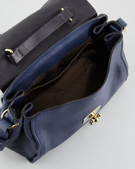 Chloe Elsie Medium Shoulder Bag Capri Night 97