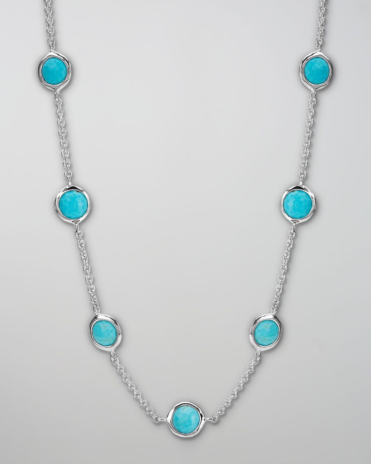 Lyst Ippolita Turquoise Station Necklace In Blue