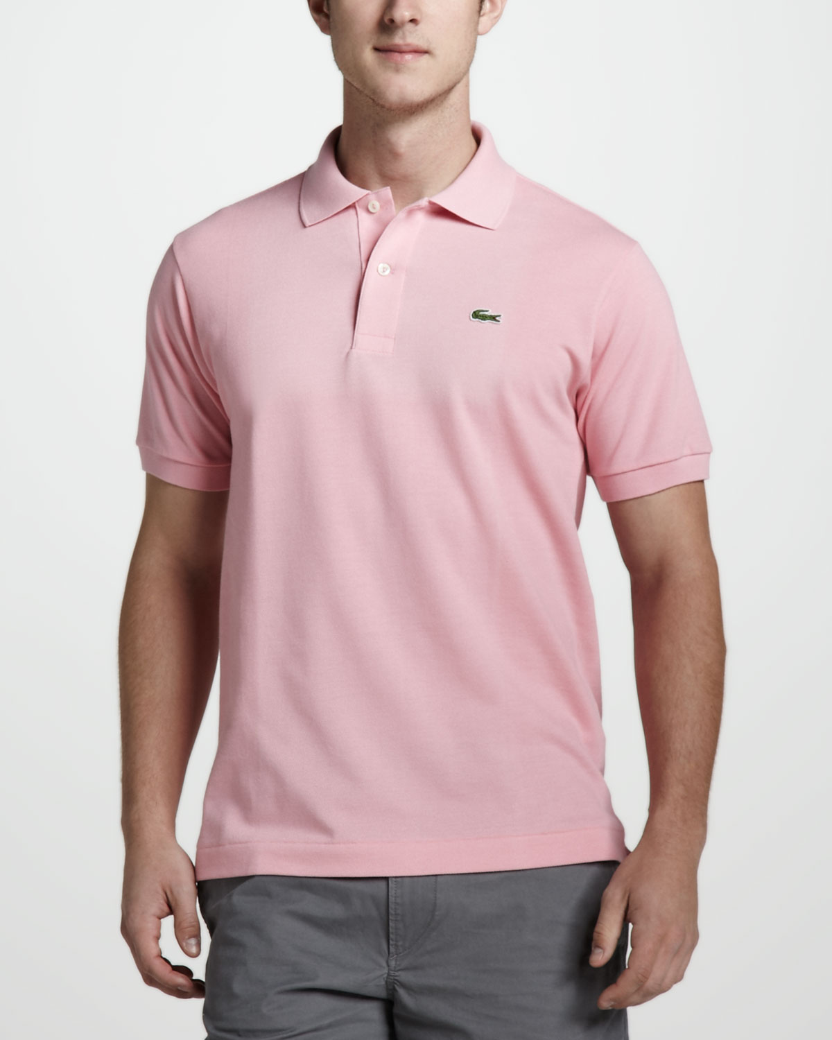 c5d24b80fdf93 Lyst - Lacoste Classic Pique Polo in Pink for Men