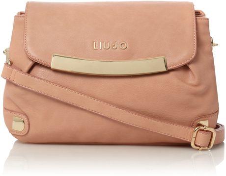 Liu Jo Ginevra Flapover Cross Body Bag in Pink - Lyst