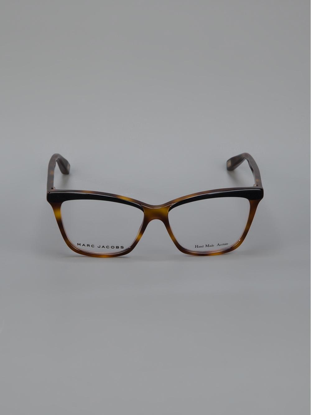 09f44965731 Lyst - Marc Jacobs Tortoise Shell Wayfarer Glasses in Brown