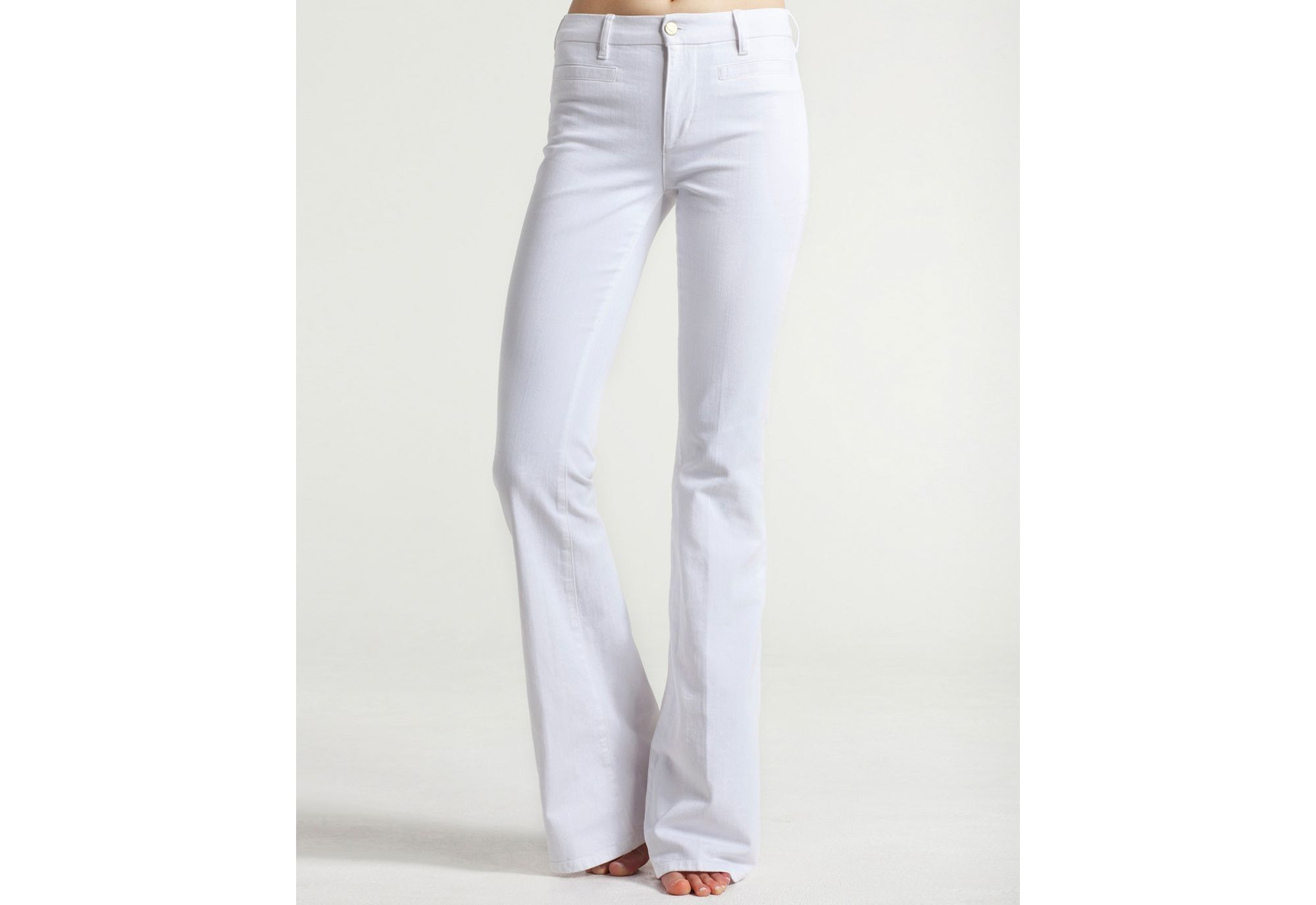 M.i.h jeans Marrakesh Midrise Kick Flare Leg Jeans in White in ...